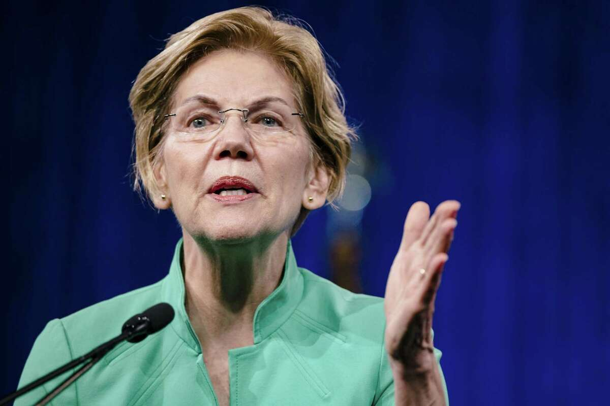 Sen. Elizabeth Warren, D-Mass., a during the Democratic National Committee Summer Meeting in San Francisco on Aug. 23, 2019.