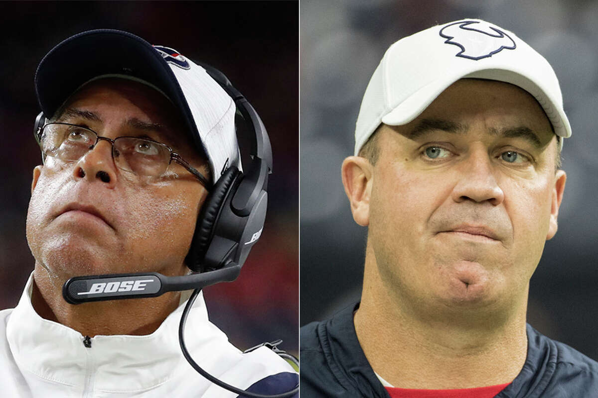 Watching the David Culley-led Texans in week 1, it was hard not to notice the contrast to so many games in recent years under predecessor Bill O'Brien (right), says Jerome Solomon.