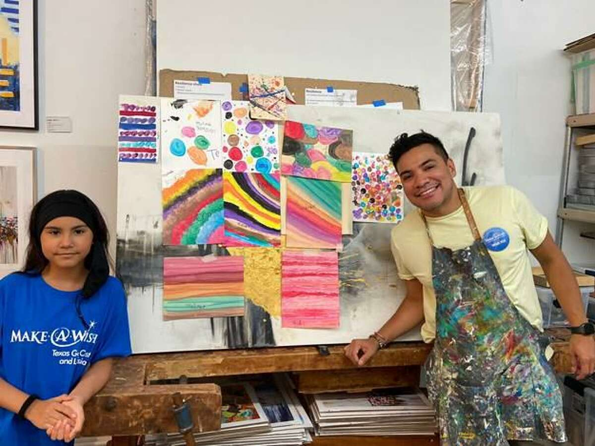 """Melinda Moreno and local artist Edgar Medina show the paintings they have been working on together for the series """"Moments Through Seasons"""".The series will be on display at Laura Raithe Fine Art from Sept. 16-26."""