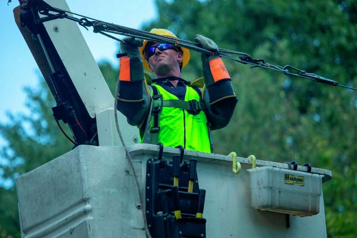 Emergency crews with Consumers Energy spent several days working to restore power to customers throughout Osceola County following the recent storm. (Photo courtesy of Miguel Troche)