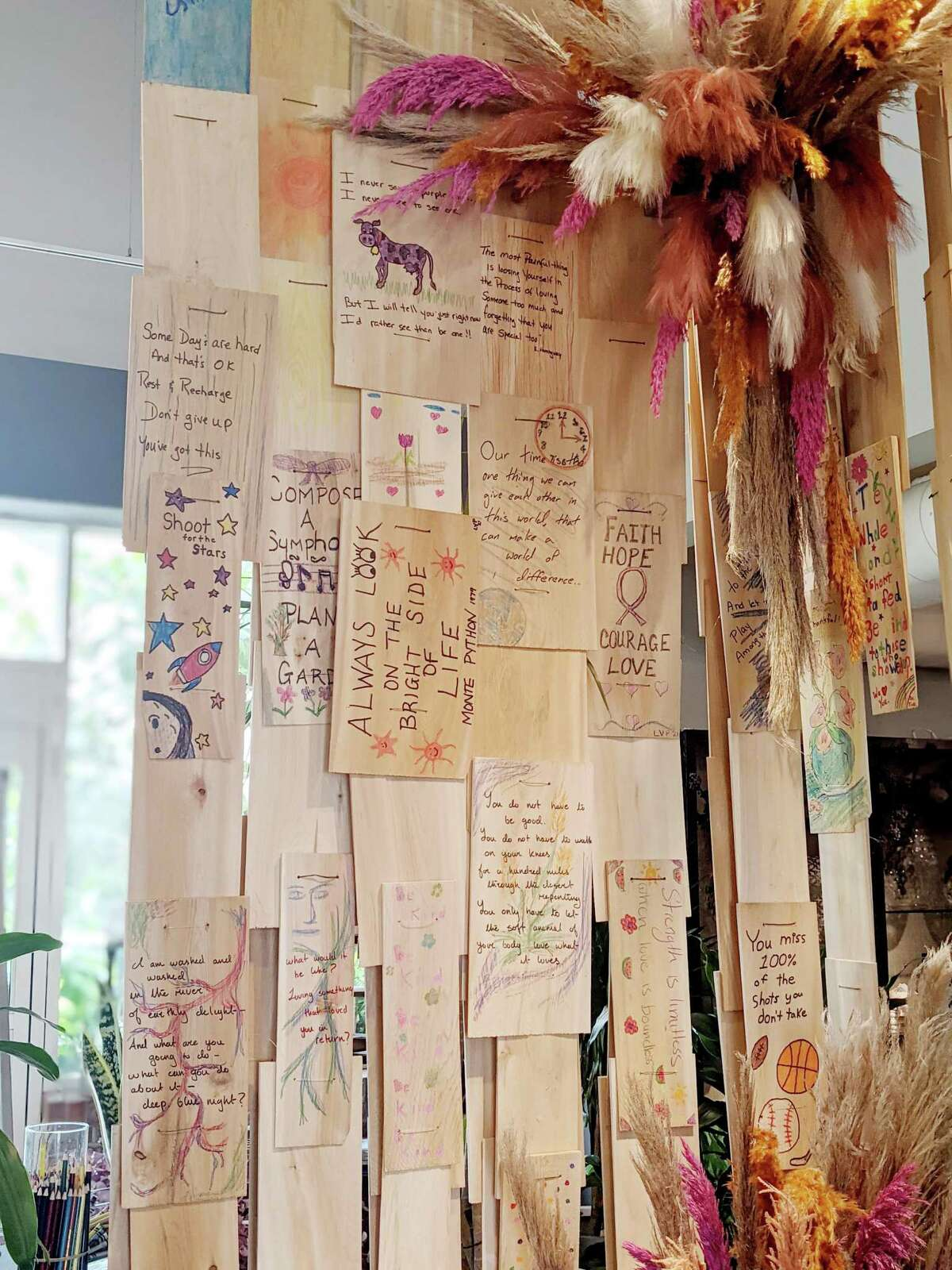 Nielsen's Florist & Garden Center's new initiative lets people share messages, ideas and inspirations through artwork, poetry and words aimed at reaching out to others.
