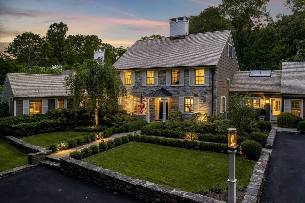 The home on 33 Chestnut Woods Road in Redding, Conn. is 7,241 square feet, and has four bedrooms and five full bathrooms.