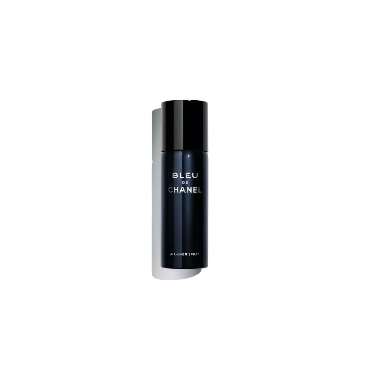 Bleu de Chanel, a cedar and sandalwood men's fragrance, is now available in a new all-over spray.