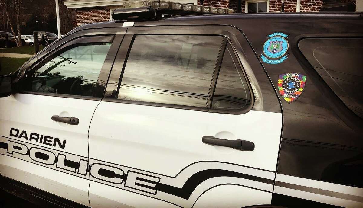 A Darien Police cruiser.