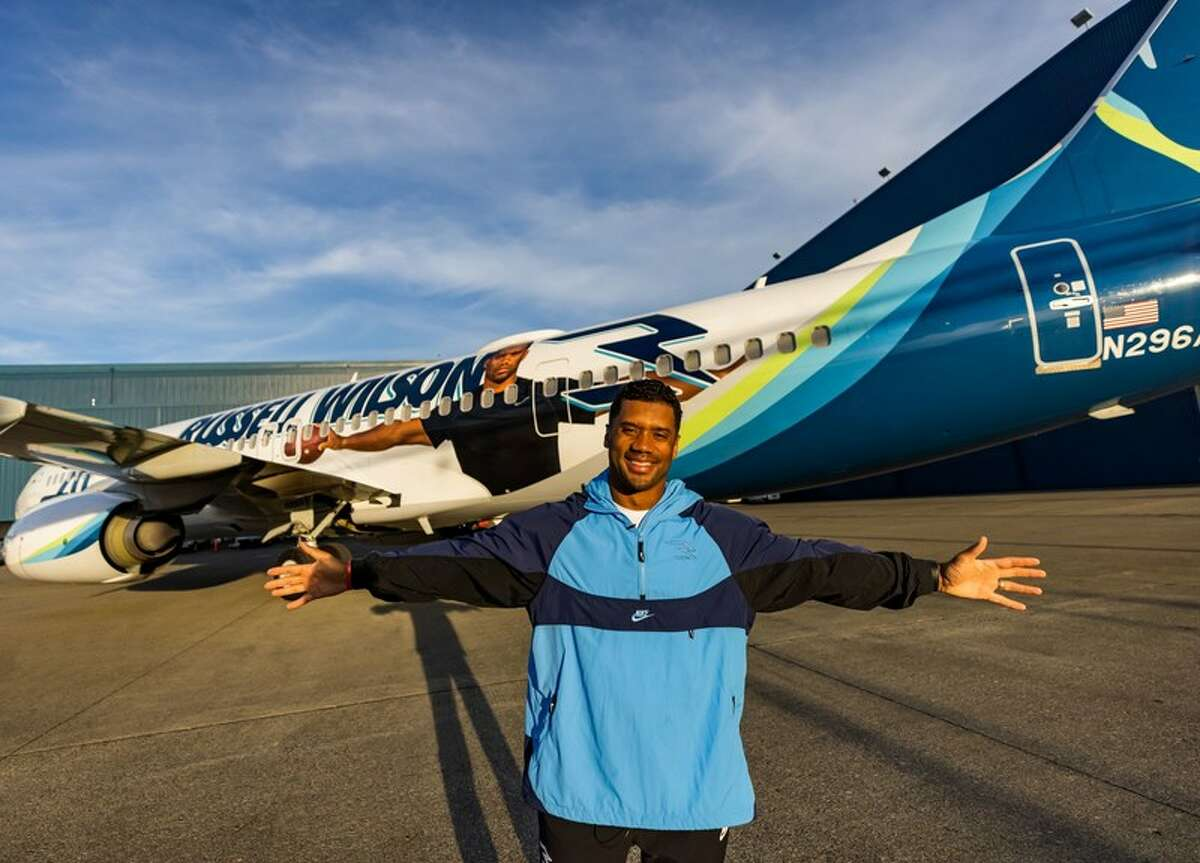 This new theme features a larger-than-life Wilson and is the fourth livery to celebrate Alaska's Chief Football Officer Russell Wilson.