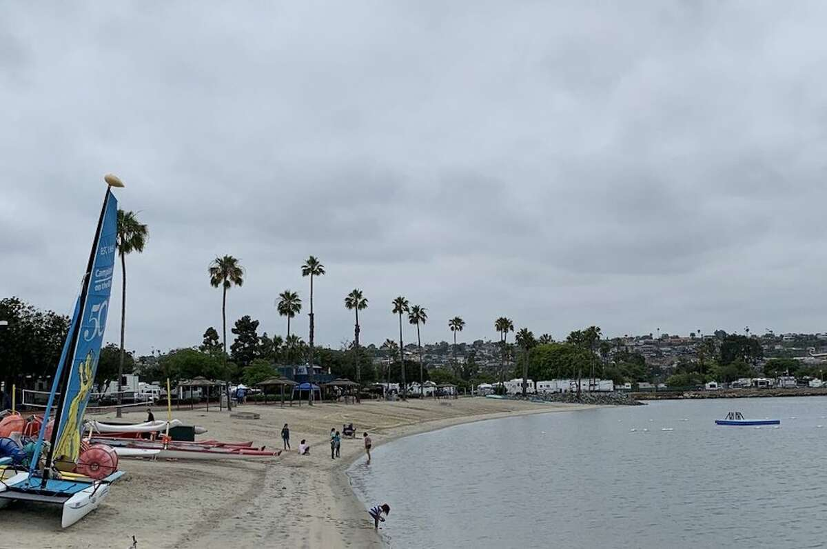 A view near Campland on the Bay in San Diego.