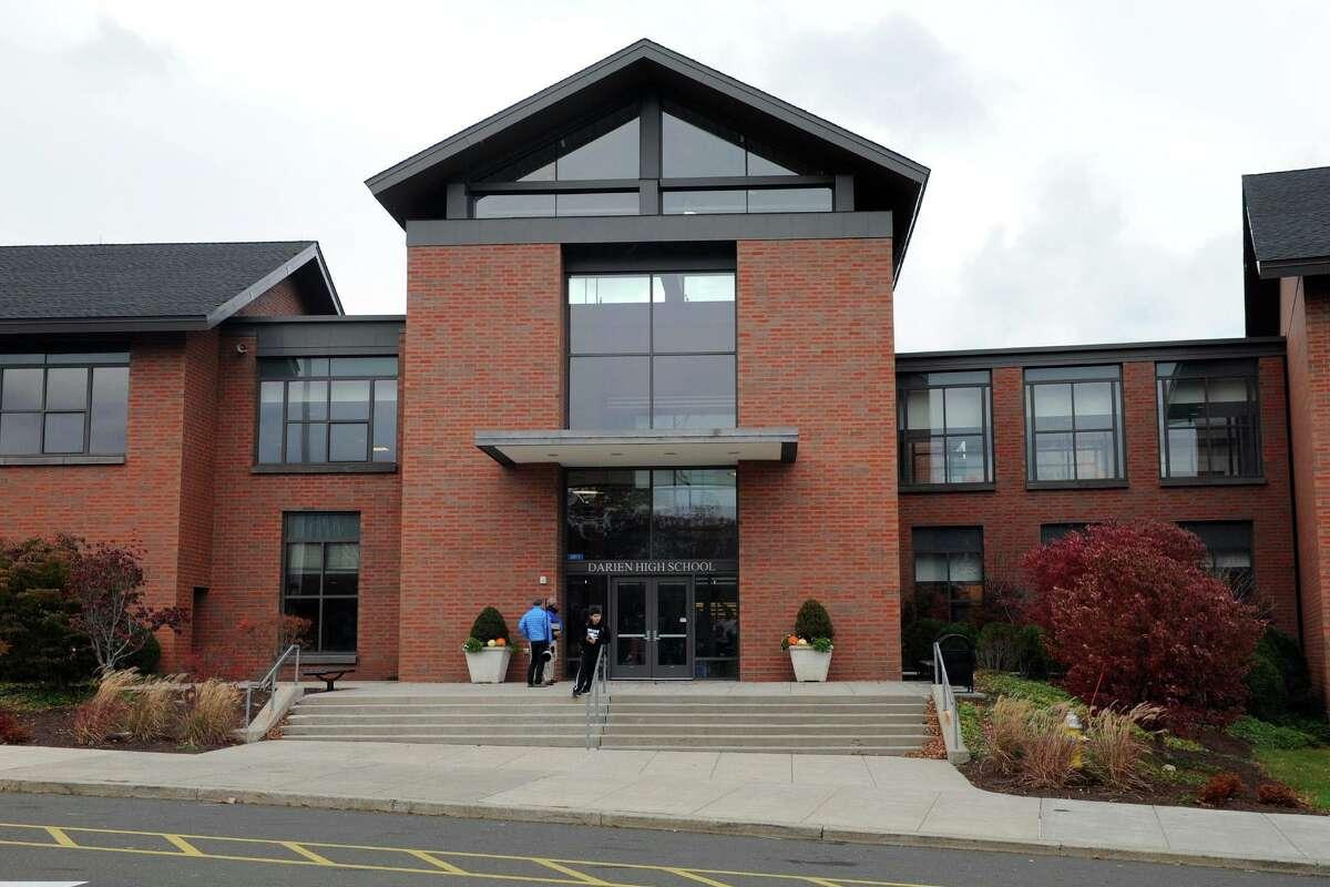 Exterior, Darien High School in Darien, Conn. Nov. 7, 2014.