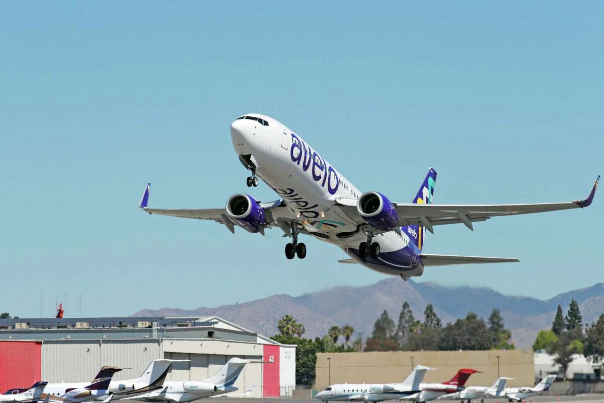 An Avelo Airlines Boeing 737-700 Next Gen airplane like the ones Avelo will use at Tweed New Haven Regional Airport.