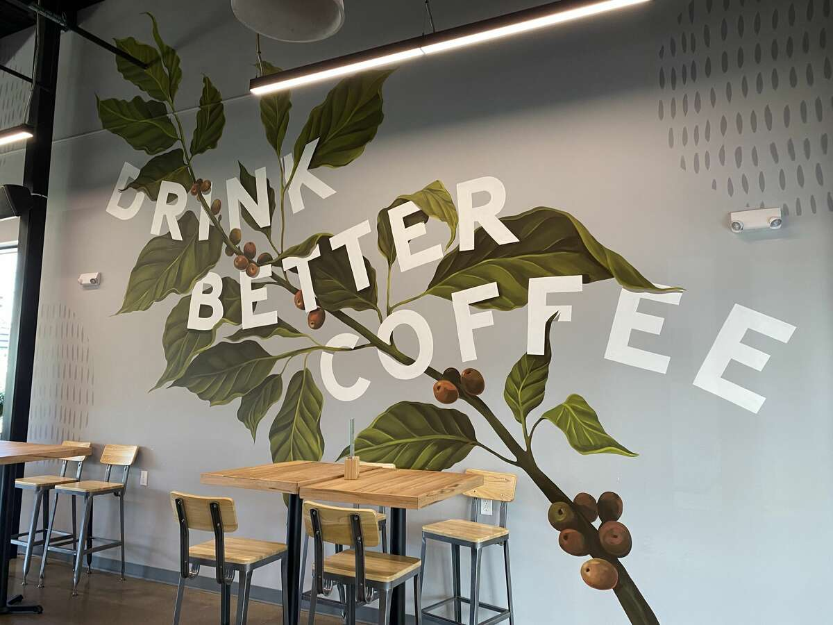 A large mural stretches across a wall in the spacious, light-filled East Hartford location.