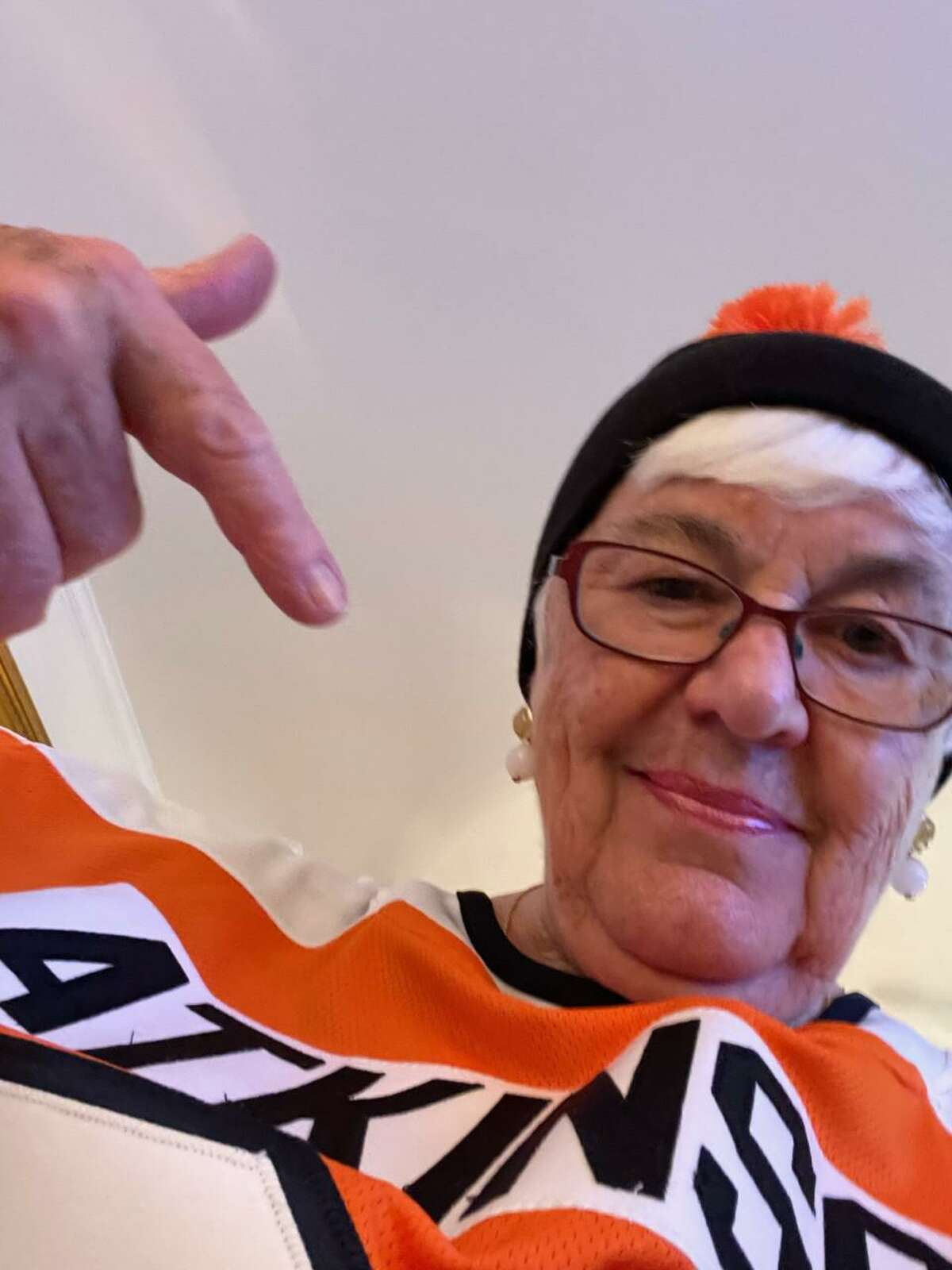 Marge Robben, grandmother of NHL player and Greenwich native Cam Atkinson.