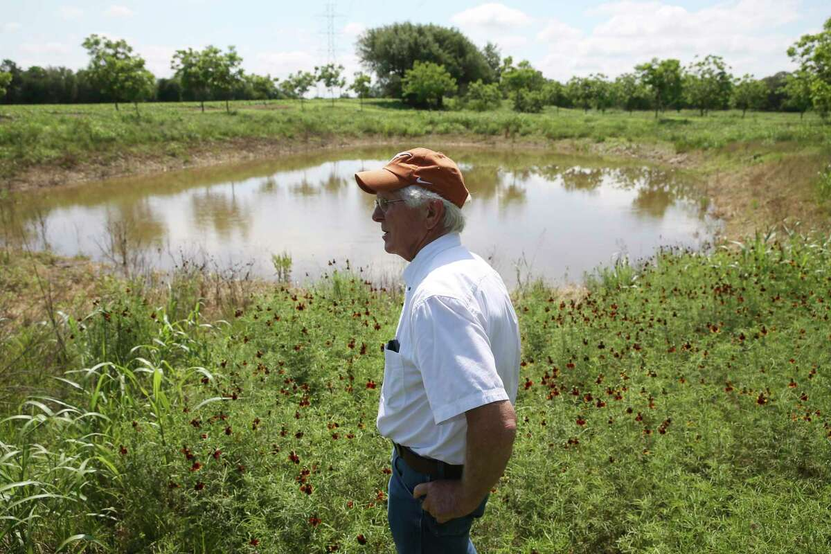 Mark Friesenhahn, 71, moved back to the farmlands of his youth in 2010 to grow pecans after a career in the oil and gas industry. He has grown increasingly concerned about the proliferation of rock quarries in the Hill Country.