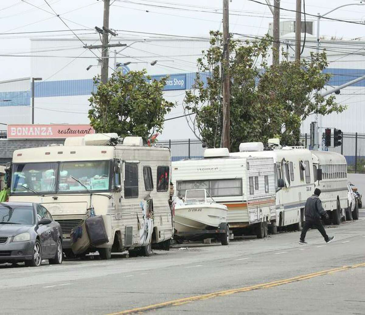San Francisco wants to open a new secure site for 150 unhoused individuals to park RVs and cars in Candlestick State Park to support a growing contingent of people sleeping in vehicles.