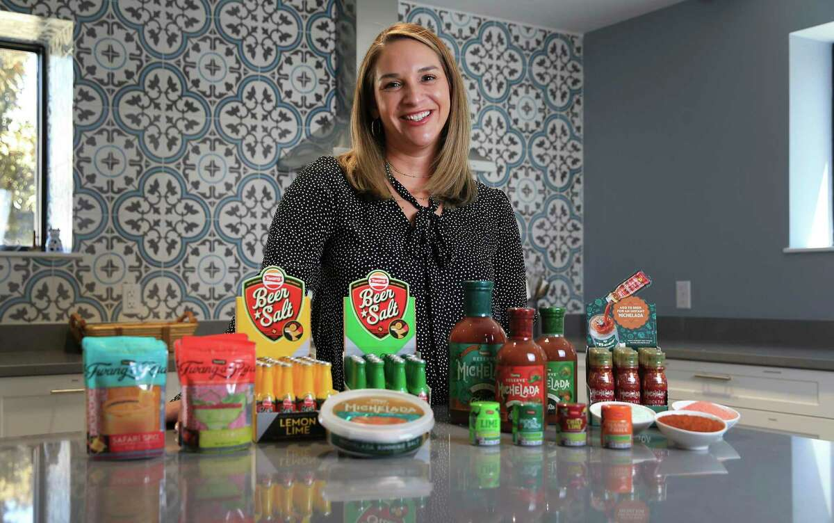Elysia Trevino-Gonzales is board chair of Twang, a local company that makes spicy condiments for use with beverages such as beers and margaritas - even coffee.