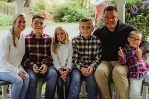 Kyle Van De Water, a Dutchess County lawyer and Army veteran who ran for Congress in 2020, died at age 41. He is shown here with his wife Melissa and their four children. (Photo is courtesy of  Van De Water Family Fund .)