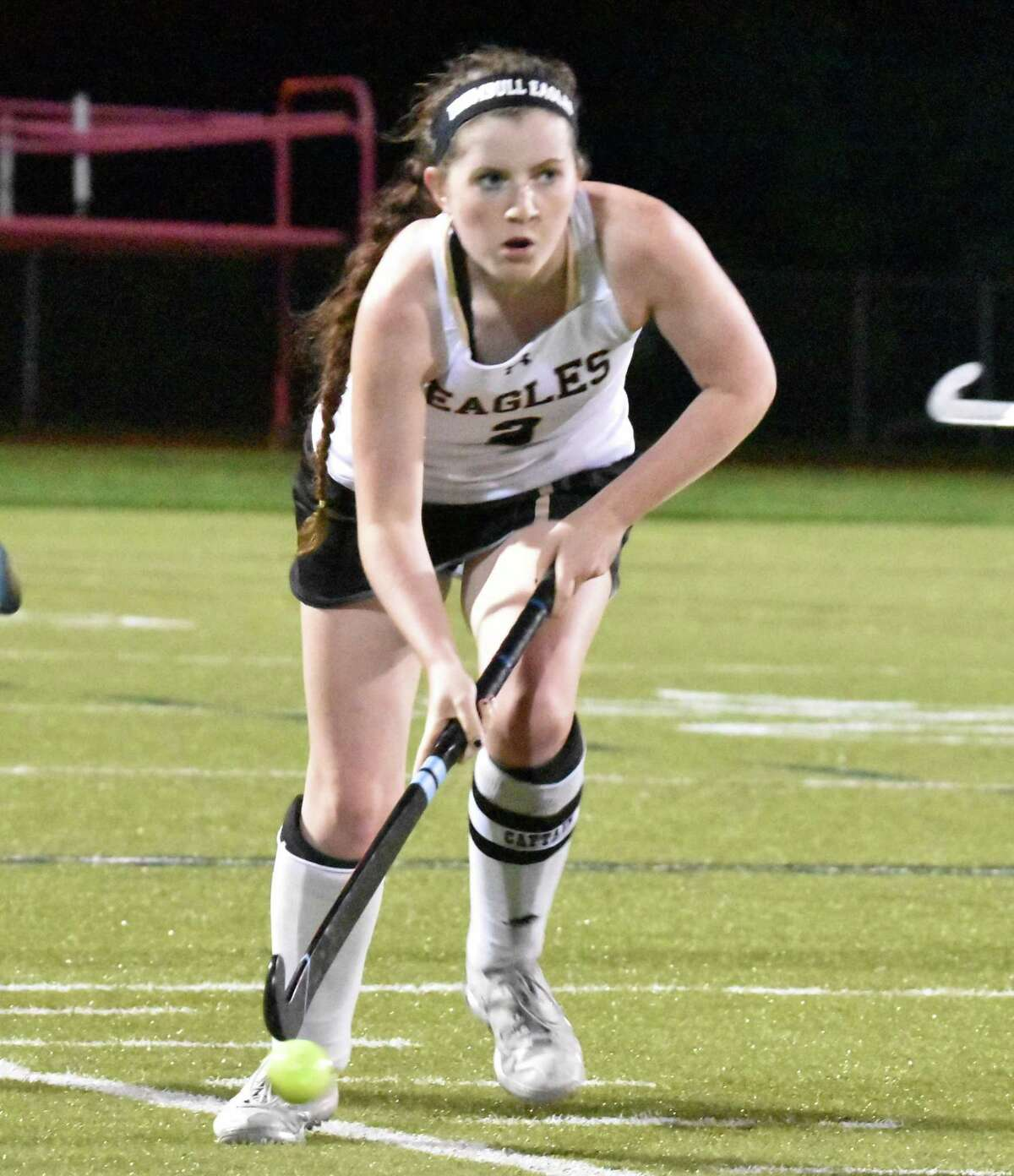 Senior Alannah Fleming led the Trumbull defense to a shut out.