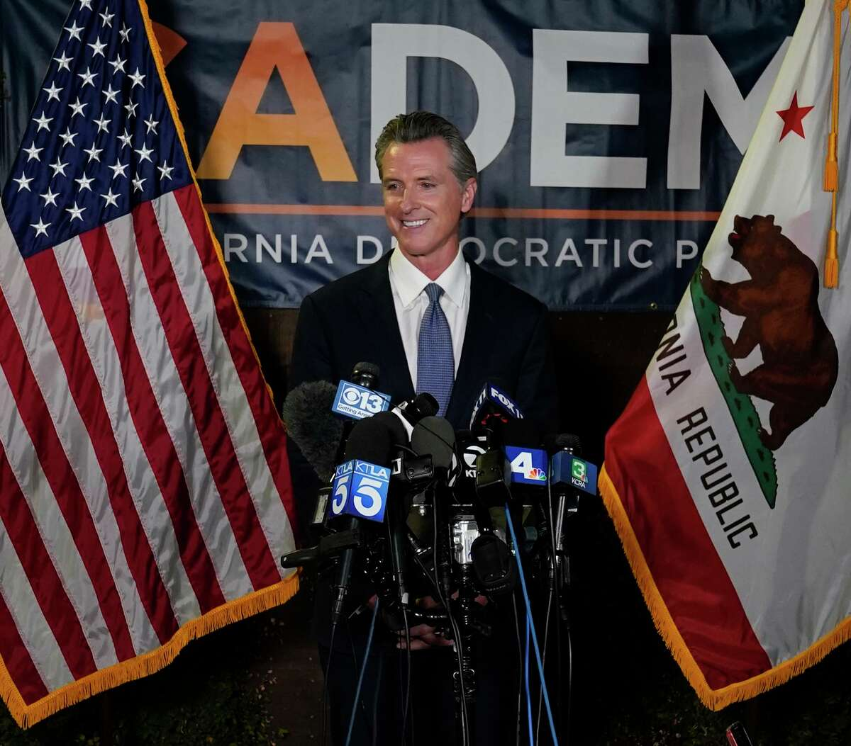 Gov. Gavin Newsom called for unity and said voters had chosen diversity and inclusion over cynicism and negativity.