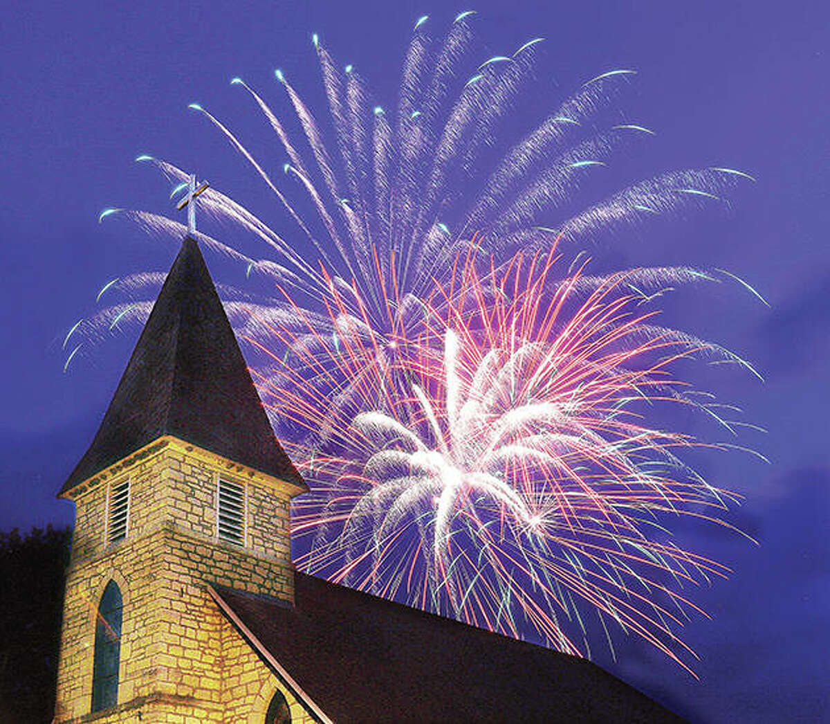 Fireworks will explode Thursday over the Alton and Godfrey riverfronts for the final time this summer as both communities present extended shows starting about 8:30 p.m.. The weekly summer fireworks are presented by Great Rivers and Routes Tourism Bureau of Southwestern Illinois.
