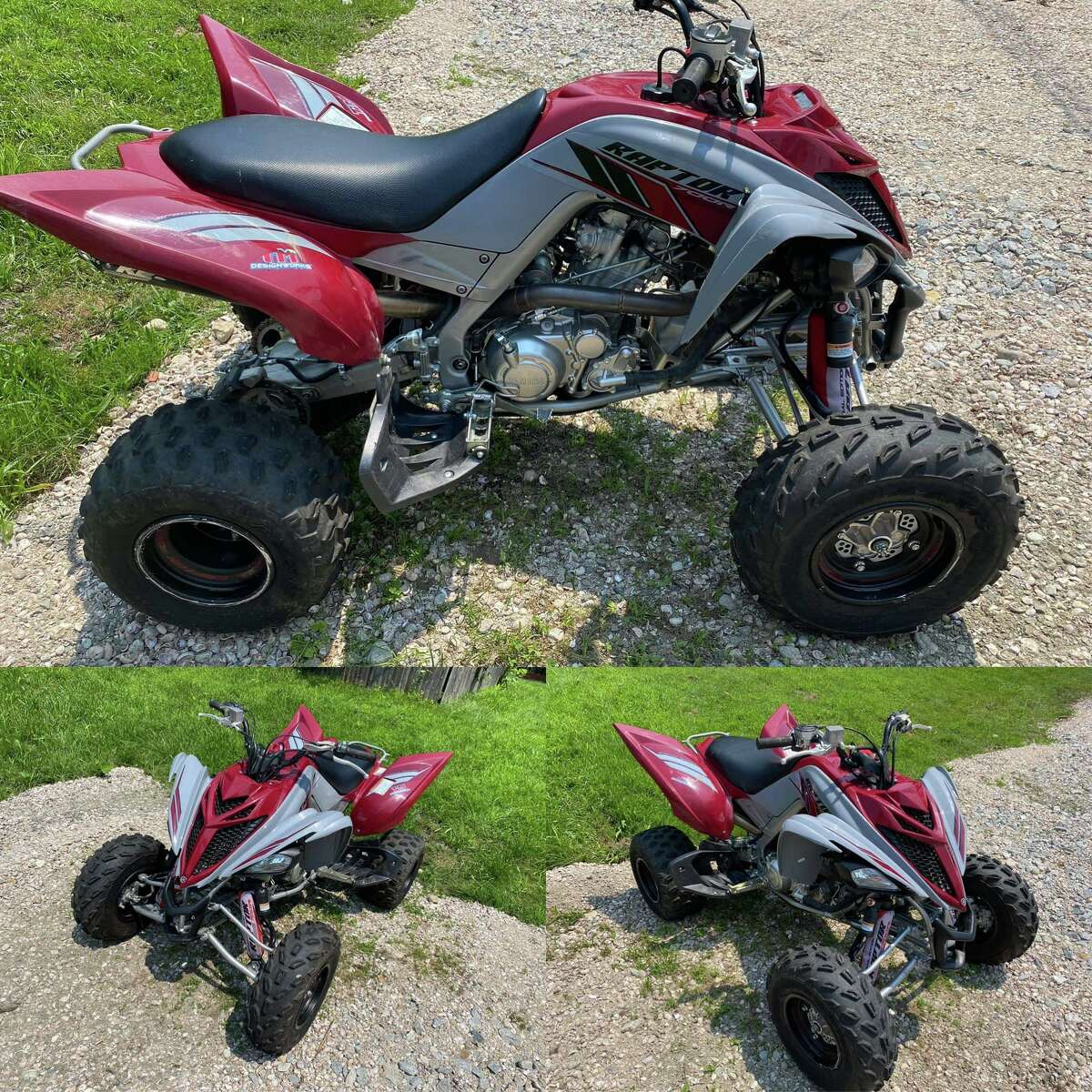 An individual tried to sell this ATV through Facebook Marketplace. Police said when the seller met up with the potential buyer at a North Stonington, Conn., commuter parking lot, the potential buyer asked to take the ATV for a test drive. He left the lot and never returned.