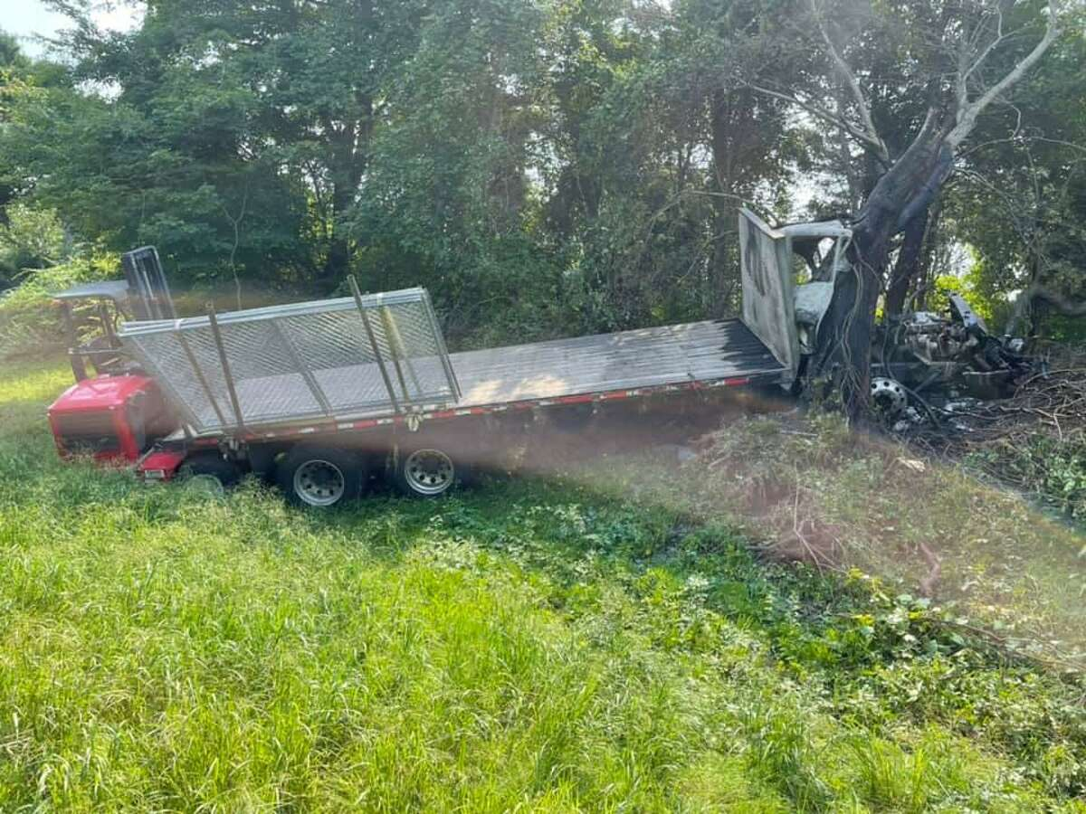 A crash on Interstate 95 in Stonington, Conn., on Tuesday, Sept. 14, 2021, sent two people to the hospital, police said.