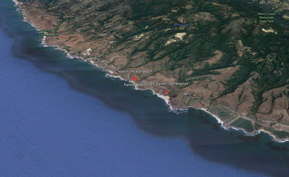 Rescuers responded at Panther State Beach on Tuesday.