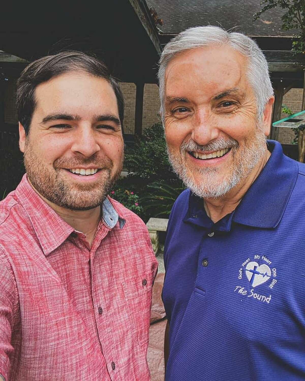 Pictured are Keith Sobus, left, and Dowen Johnson, right. Johnson retired as pastor of April Sound Church on Sept. 1. Johnson was pastor of the church for 34 years. Sobus is the new pastor.