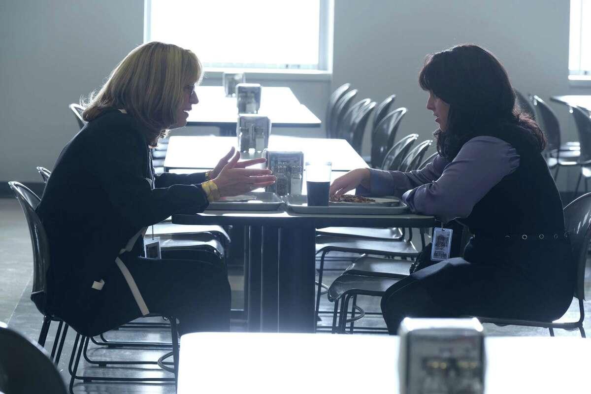 """Sarah Paulson as Linda Tripp, left, and Beanie Feldstein as Monica Lewinsky in """"Impeachment: American Crime Story."""""""