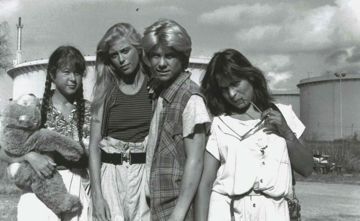 """Billie Jean and her gang (Yeardley Smith, from left, Helen Slater, Christian Slater and Martha Gehman) - good kids accidentally at odds with the law - becomes an overnight media sensation in """"The Legend of Billie Jean."""""""
