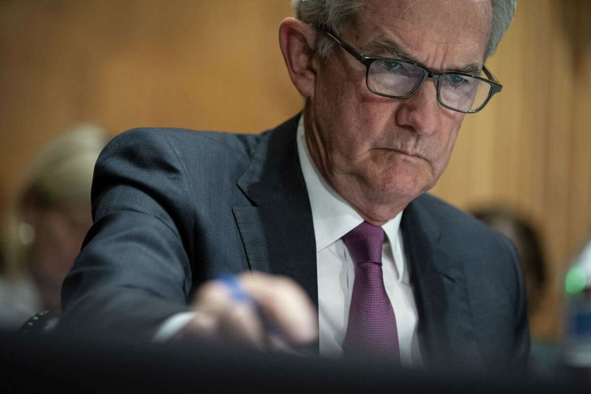 Jerome Powell, chairman of the Federal Reserve, listens during a Senate Banking Committee hearing in Washington, D.C. on July 15, 2021.