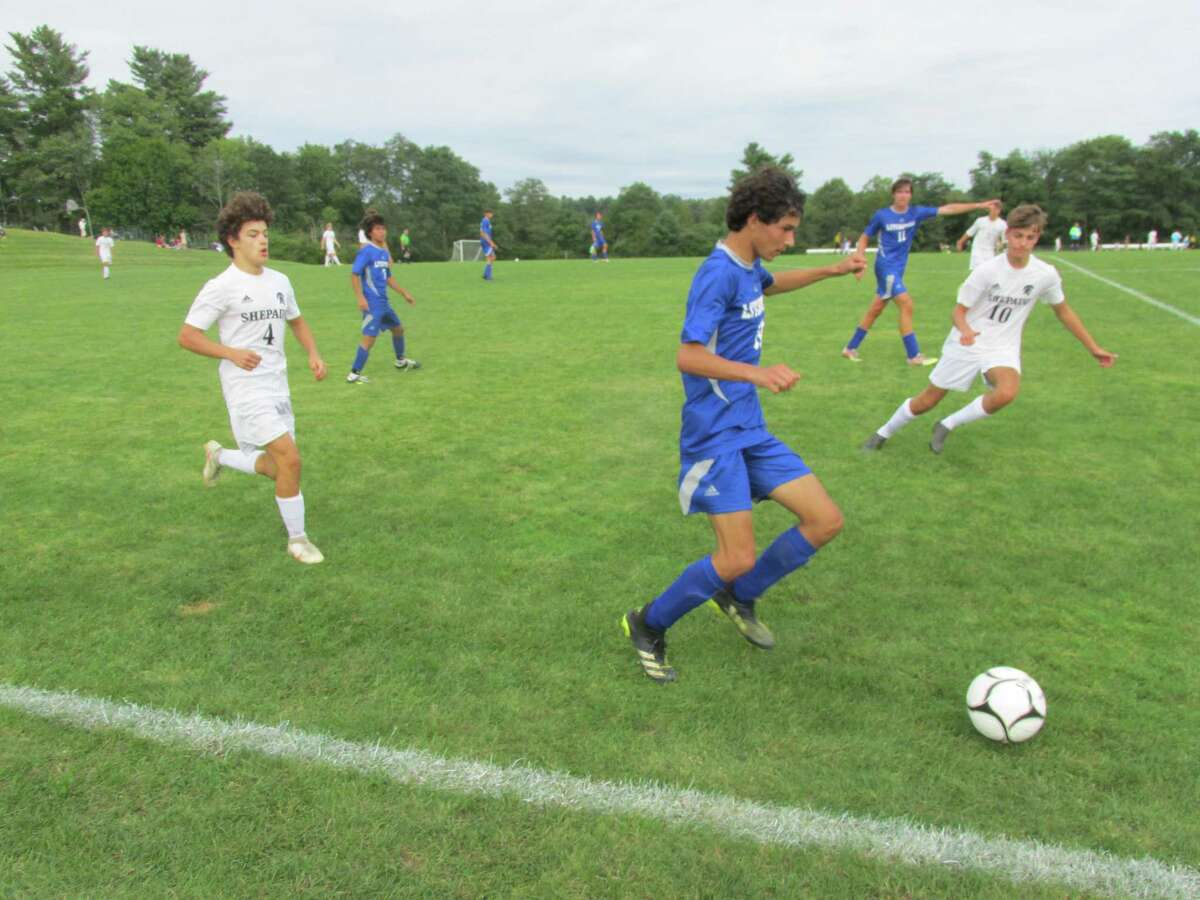 Litchfield moved the ball well in the first half of Tuesday's game with Shepaug Valley at Plum Hill Field, then fatigue set in for an overtime loss to the Spartans.