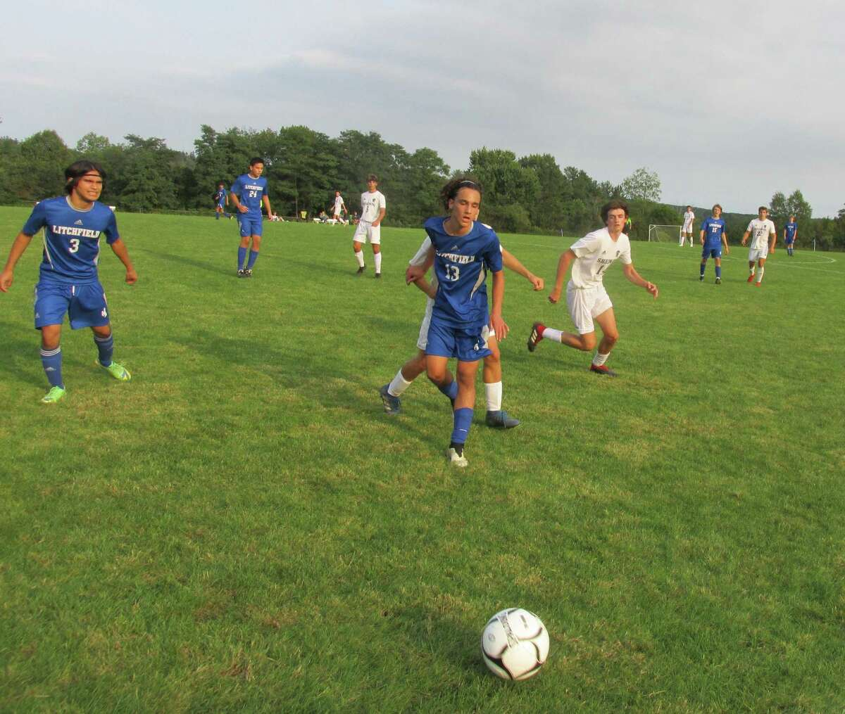 Early-season Litchfield cramps and lots of Shepaug substituting played a part in the Spartans' overtime win at Plum Hill Field Tuesday afternoon.