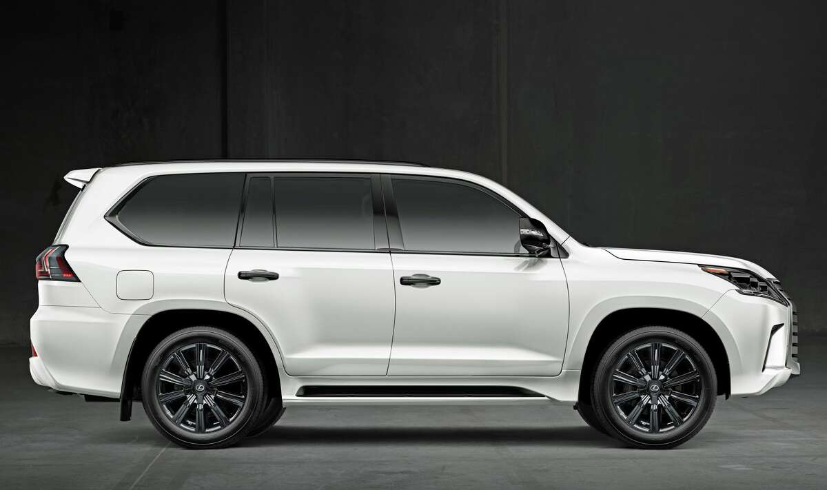 The 2021 Lexus LX 570, shown here in the Eminent White Pearl color.