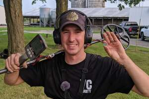 Jake Wagoner has been metal detecting since 2017, in part to explore the local history of Manistee County.