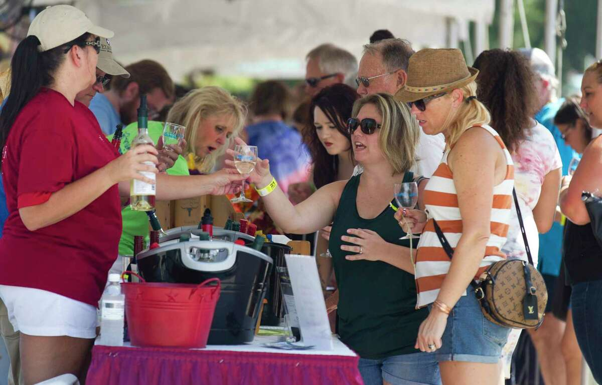 Hundreds of visitors sampled from more than 40 different Texas wines and enjoyed in live music during the annual Montgomery Wine and Music Festival, Saturday, Sept. 21, 2019, in Montgomery. This year's event is Saturday and marks a return to the in-person event in downtown historic Montgomery.