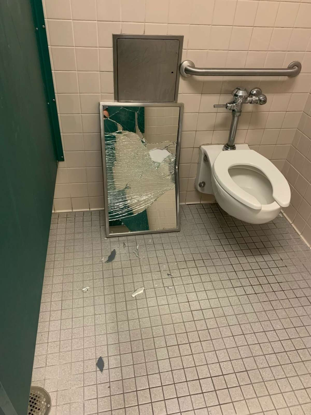 Pictures from NEISD show just some of the vandalism discovered on their campuses.