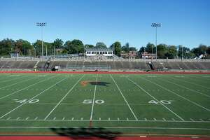 Stamford High School's Boyle Stadium on Thursday, Oct. 18, 2018.