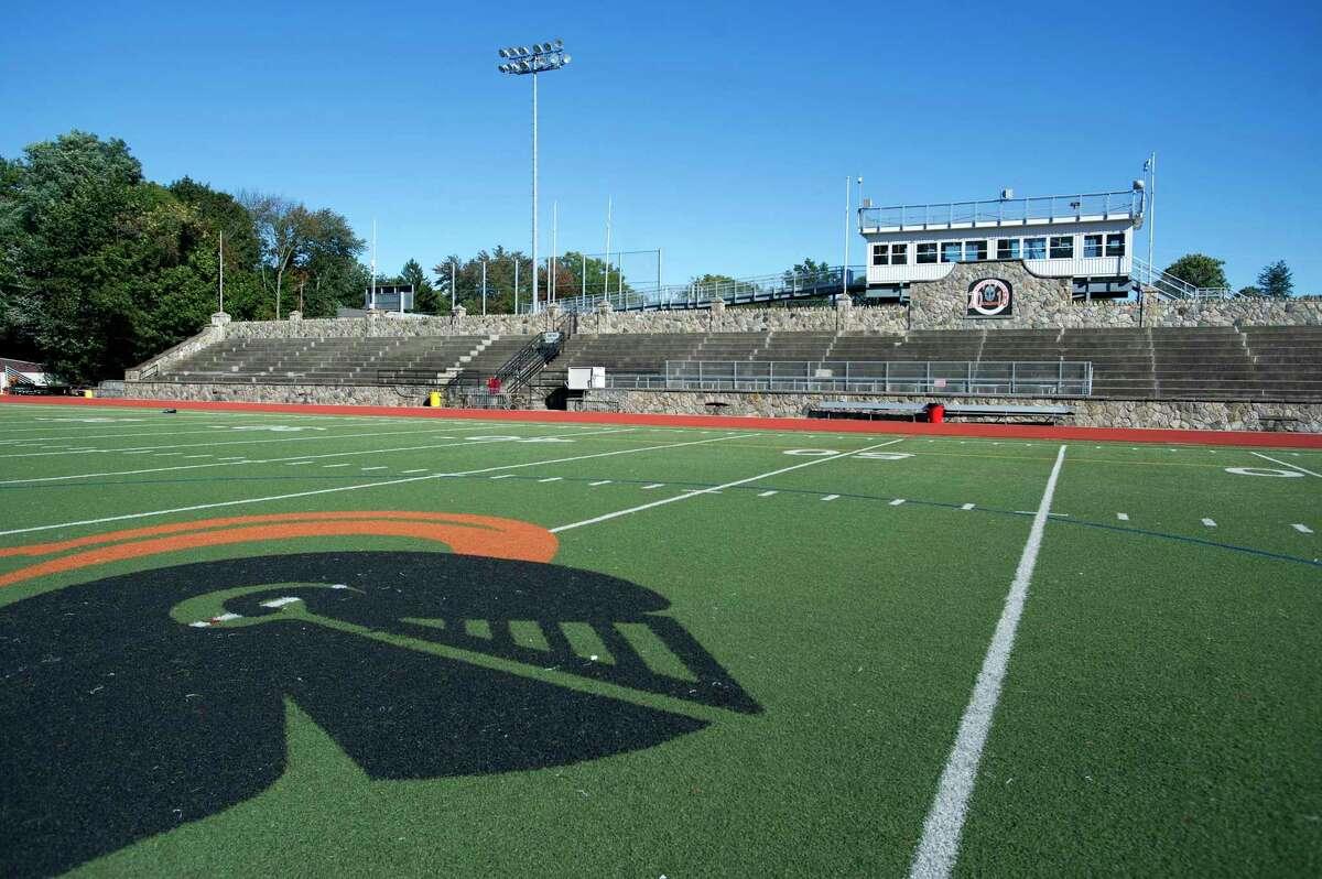 Stamford High School's Boyle Stadium in 2018.