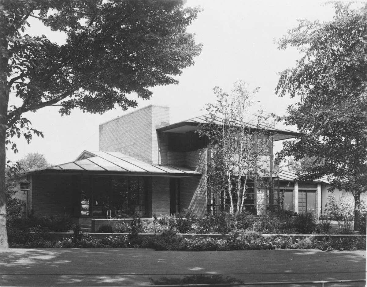 The Stein Residence (209 Revere) designed by Alden B. Dow, 1933.