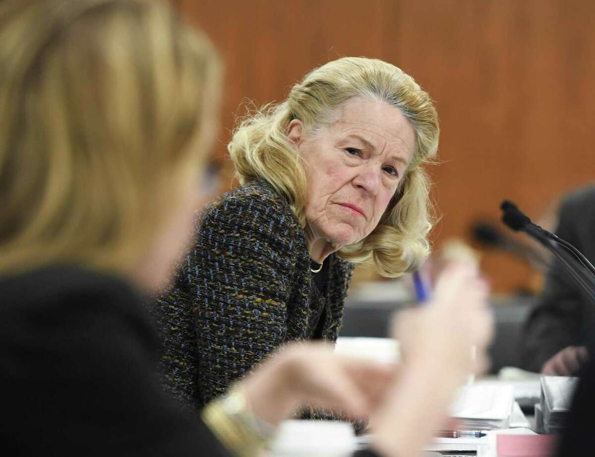 BET Budget Committee Chair Leslie Tarkington, seen here during a 2020 meeting, introduced the first read of the 2022-23 budget guidelines for the town on Tuesday.