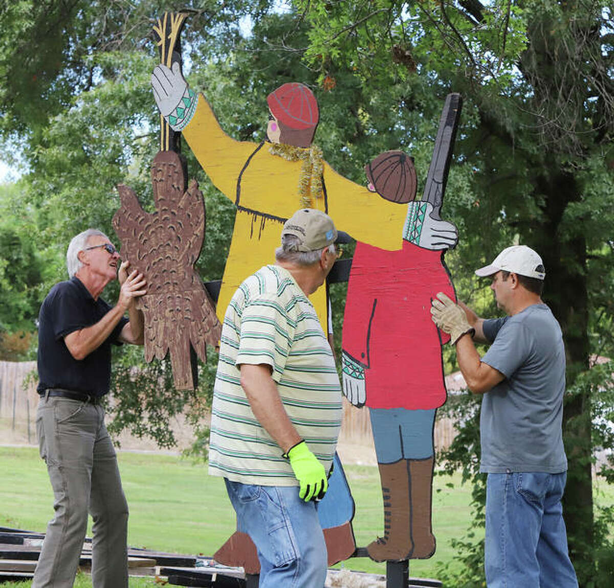 Additional photos from the Grandpa Gang's Christmas Wonderland work this week in Alton's Rock Spring Park.