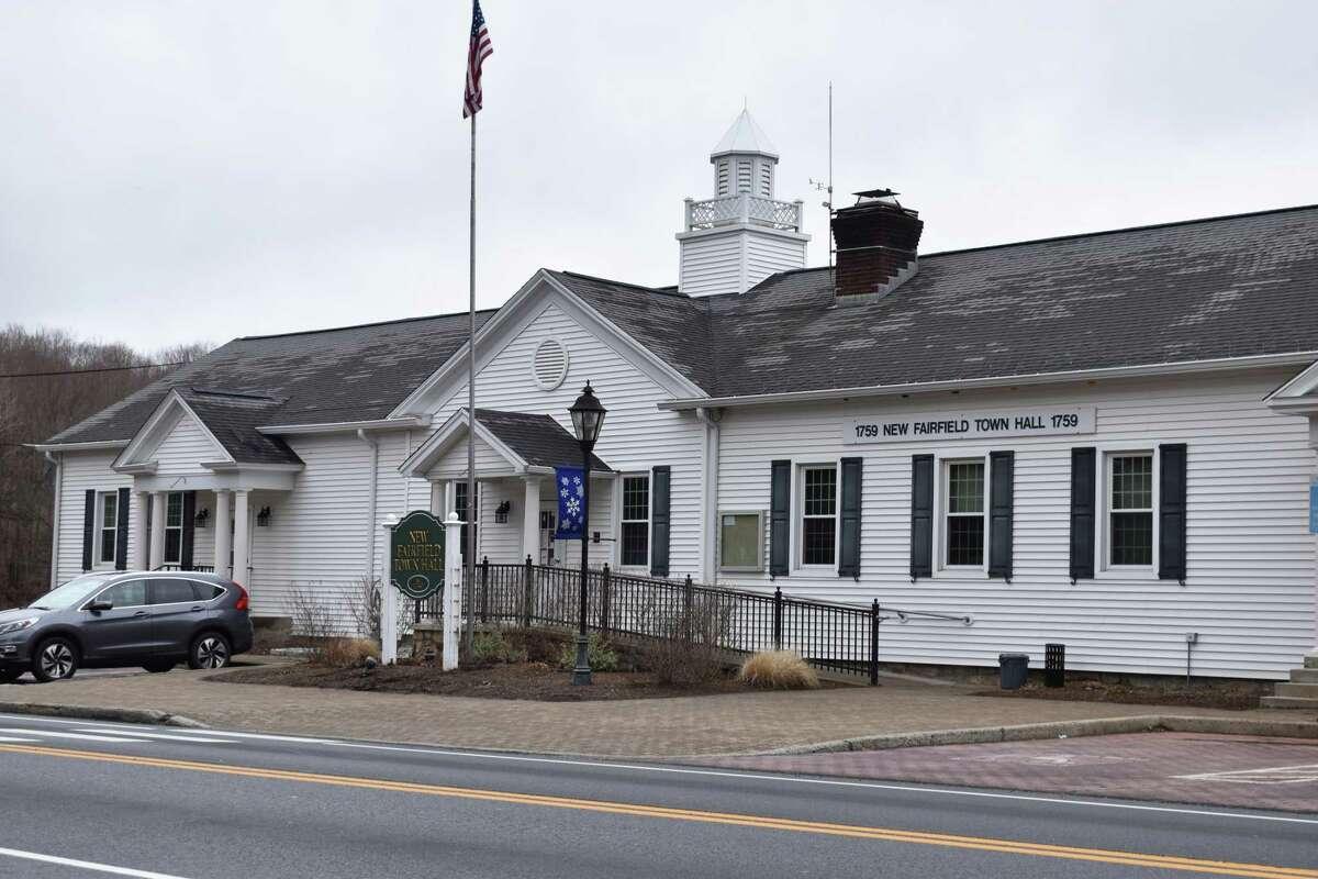 New Fairfield Town Hall in New Fairfield, Conn.