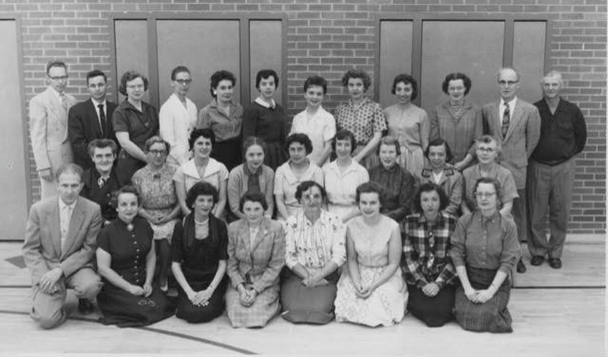 Plymouth Elementary School faculty. Photo courtesy of Bill Trull