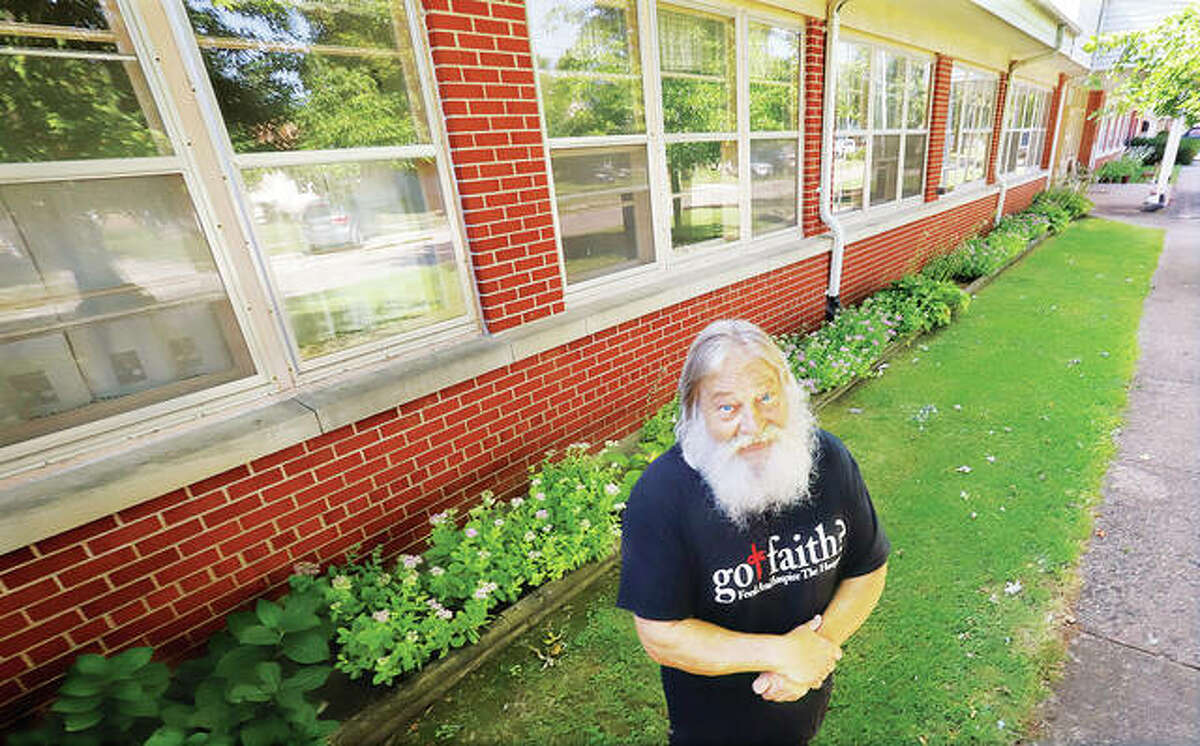 Steve Pegram, founder of Got Faith? Ministry, stands in front of the old hospital building at 508 W. Pine St. in Jerseyville that was recently donated to the not-for-profit organization. Built in 1953 and last used as a nursing home in 2012, the building is valued at $3.9 million. - John Badman|The Telegraph