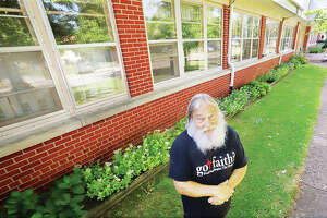 Steve Pegram, founder of Got Faith? Ministry, stands in front of the old hospital building at 508 W. Pine St. in Jerseyville that was recently donated to the not-for-profit organization. Built in 1953 and last used as a nursing home in 2012, the building is valued at $3.9 million.