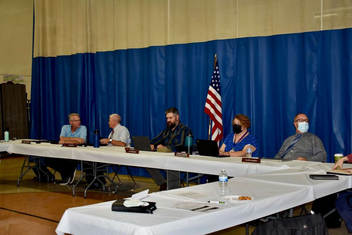 On Monday, Sept. 13, the Chippewa Hills School District board of education met for their monthly meeting and heard from several parents who voiced concerns over masking and board decision-making. (Pioneer photo/Olivia Fellows)