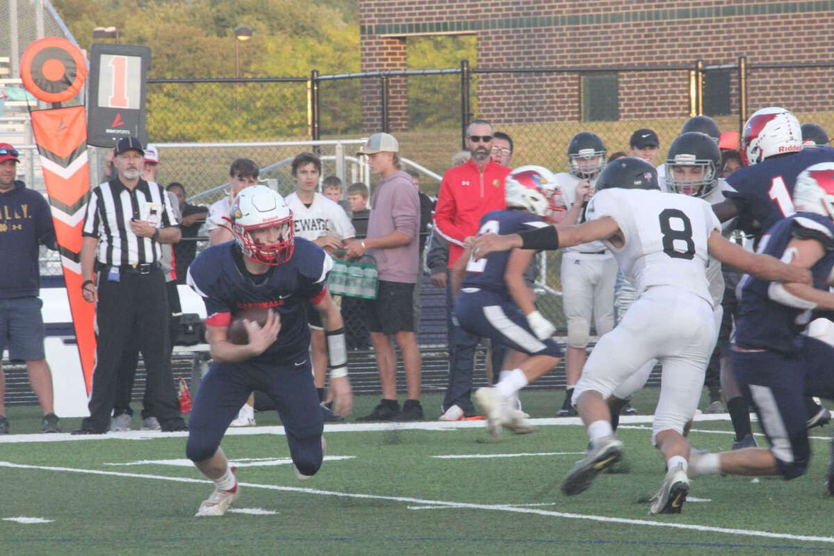Big Rapids football team will face undefeated Central Montcalm on Friday. Above is a game earlier in the season. (Pioneer photo/Joe Judd)