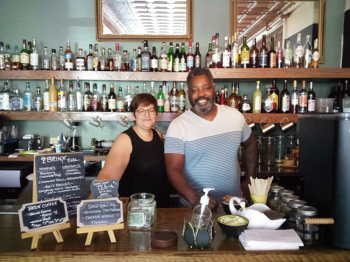 Julian Sawyer, owner of Sawyer's bar on Center Street, Torrington, took over Brinx Kitchen & Bar on Main Street in August, and is now selling coffee and treats with the help of Michelle Wall, owner of the former Good Company Coffee House. Brinx is popular for its specialty cocktails and food.