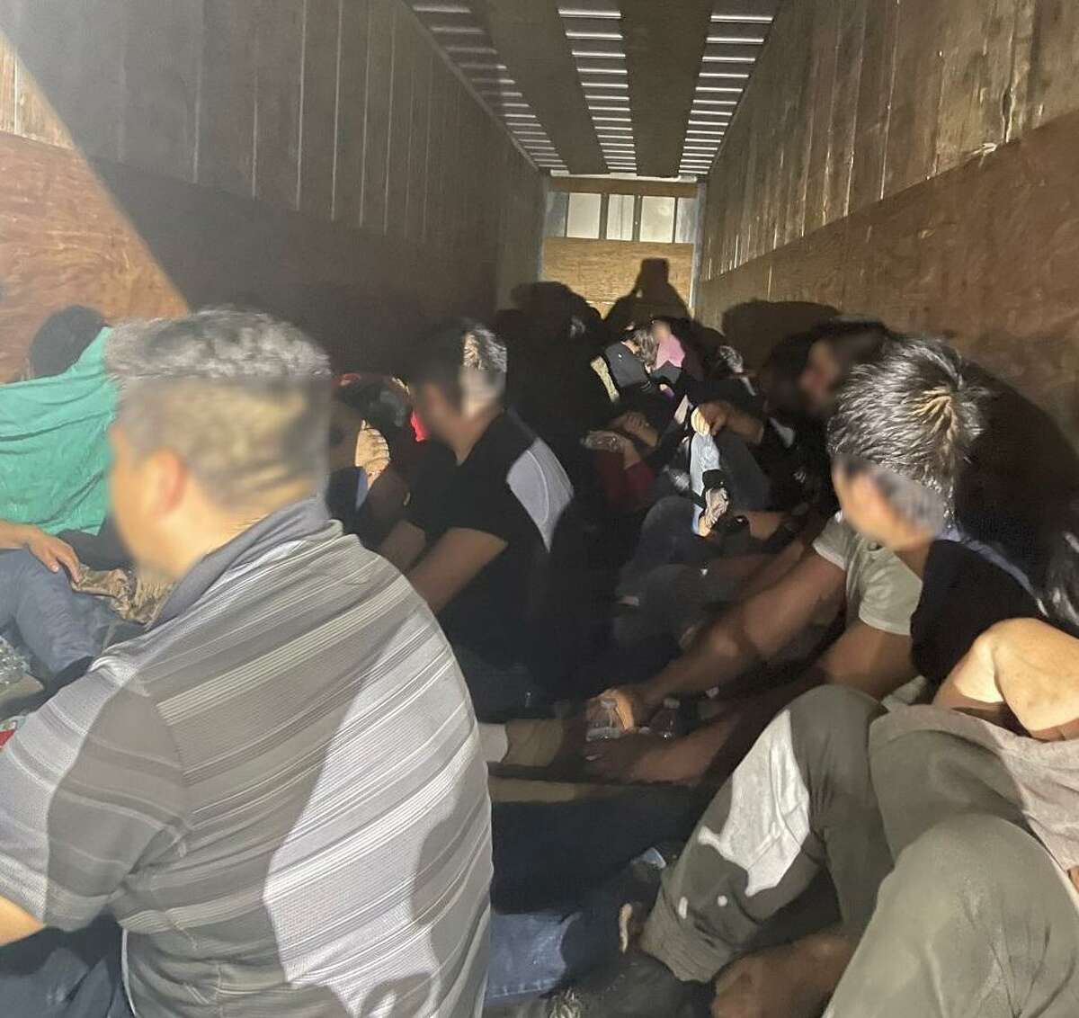 U.S. Border Patrol agents said they rescued nearly 50 migrants who were inside a locked trailer.