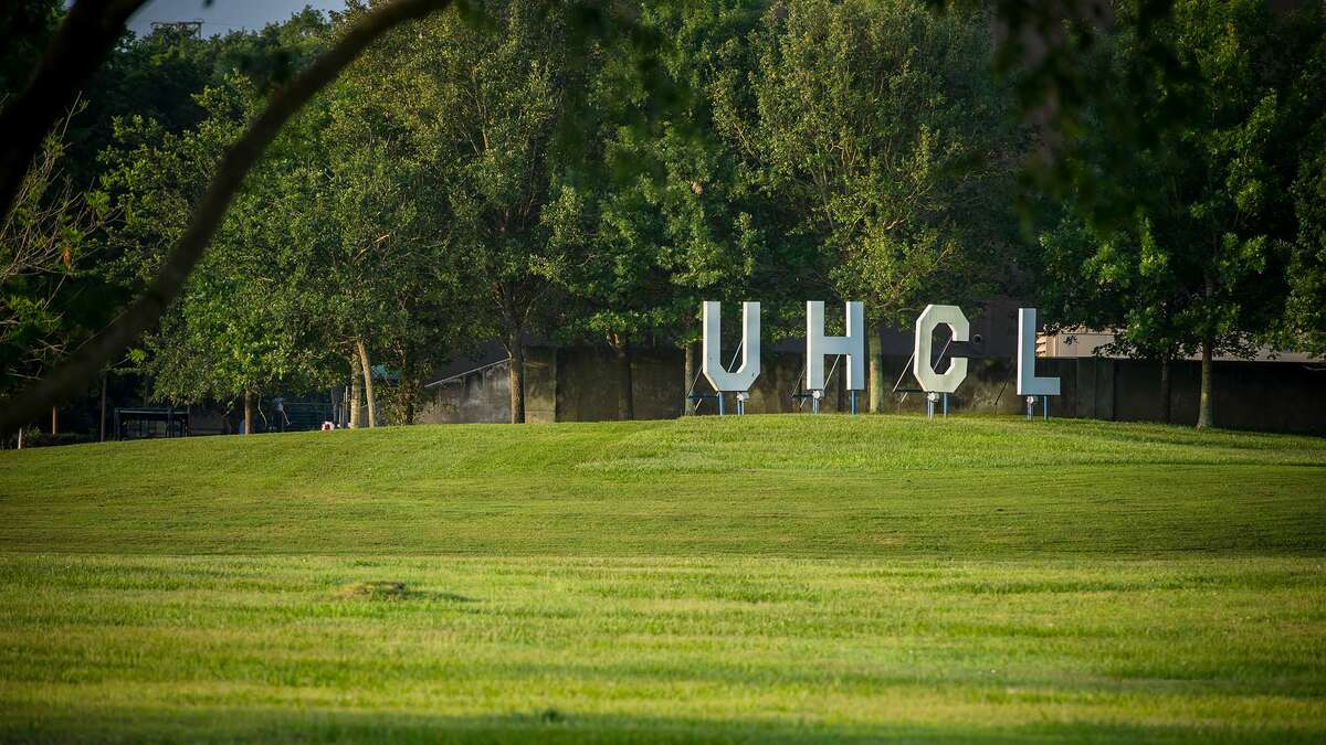 White UHCL letters between the Bayou Building and the Student Services and Classroom Building facing Alumni Plaza have been symbols of University of Houston-Clear Lake's school spirit for decades.