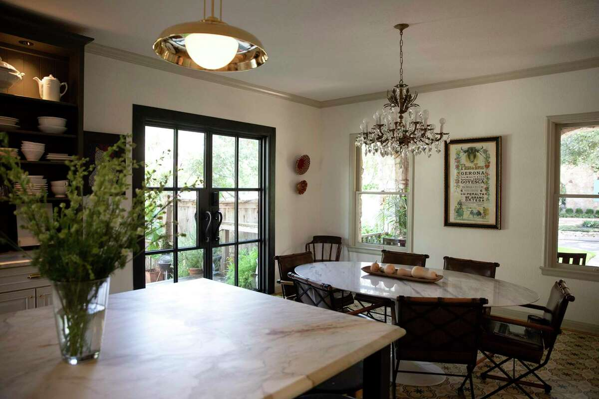 This Olmos Park kitchen was decorated to have an Old World feel.
