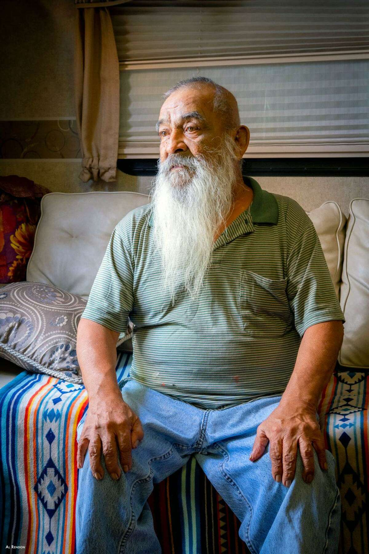 """Nicolas Paz of San Antonio was among those WellMed patients receiving home-based palliative care featured in the """"Faces of Resiliency"""" project by San Antonio photographer Al Rendon. It's part of FotoSeptiembre's lineup this year."""